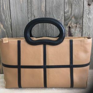 Ashneil MidCentury Structured Leather Suede Purse